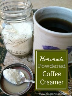 """Natural coffee creamer ♥ Coffee creamer flavors Homemade Powdered Coffee Creamer - Save money by making your own """"We love coffee but creamer can be expensive. Make your own homemade powdered coffee creamer. It tastes great and saves you money. Homemade Coffee Creamer, Powdered Coffee Creamer Recipe, Healthy Coffee Creamer, Smoothies, French Vanilla, Spice Mixes, Kakao, Coffee Recipes, Diy Food"""