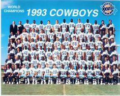 1993 Dallas Cowboys 8X10 Team Photo World Champions Football Texas Nfl