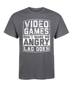 LC trendz Mens Charcoal Video Games Dont Make Me Angry Tee - Men | zulily