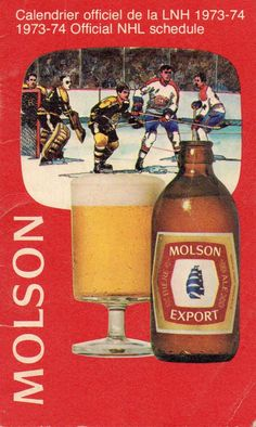 1974 Molson Export Advertisement