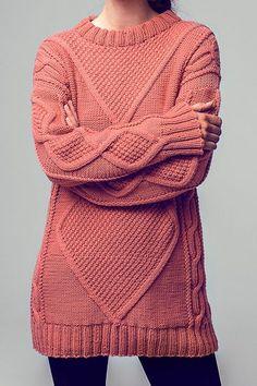 Kostenlose Anleitung: Long-Pullover - Initiative Handarbeit