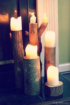 Shop Your Yard: DIY Tree Stump Coasters & Candleholders - Balancing Beauty and Bedlam