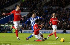 Dec. 5th.2015: The Manchester United youngster James Wilson, on loan at Brighton for the season, capped a fine solo run with this low finish in a 3-2 win against Charlton that took Brighton to the top of the Championship.