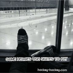 Some heroes use skates to fly --would be a perfect picture in bauers room! Hockey Memes, Hockey Quotes, Blackhawks Players, Chicago Blackhawks, Hockey Baby, Ice Hockey, Hockey Pictures, Rangers Hockey, Mlb Teams
