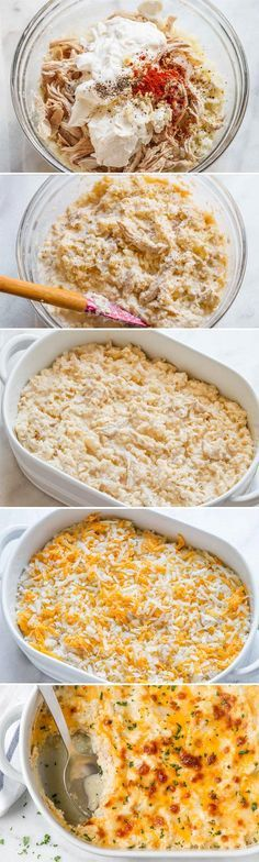 Creamy Chicken and Cauliflower Rice Casserole - A quick, easy, and over the top tasty dinner - gluten free, keto, low carb friendly