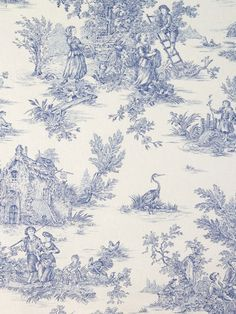 blue french toile