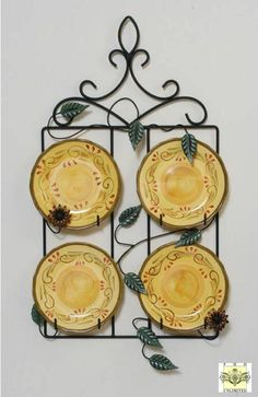 Plate Rack - Country Meadow Four Plate Hanger for 8  sc 1 st  Pinterest & Three Place Vertical and Horizontal Plate Hangers | ΚΡΕΜΑΣΤΡΕΣ ...