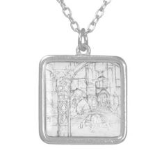 Stairway View Silver Plated Necklace - jewelry jewellery unique special diy gift present