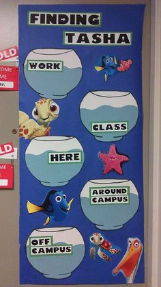 Where's your RA? Finding Nemo themed!                                                                                                                                                      More