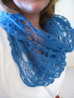 Neck Lace Mohair Cowl by Lara Sue - one skein pattern idea for Seraphim #crochet