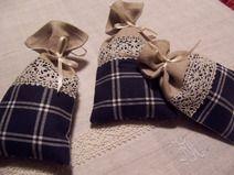 Duftsäckchen Lavendel Lavendelsäckchen blau Säckel
