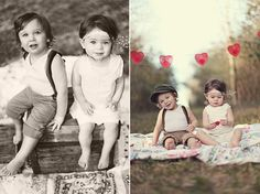 Vintage style Baby Toddler photo shoot