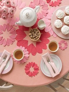 cute idea for little girls tea party birthday...