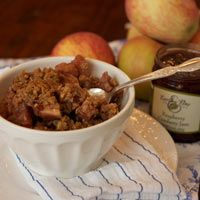 Earth & Vine Provisions Inc. Apple Raspberry Crisp Recipe