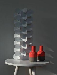 Spine Design Lampenkap Wit PP