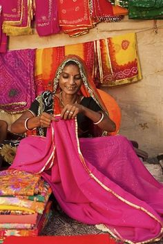 Sari Shop , India so want to find colourful outfits to wear while in India Saris, Goa India, India Sari, We Are The World, People Around The World, Namaste, Sari Shop, Beautiful People, Beautiful Women