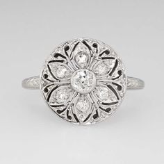 Hey, I found this really awesome Etsy listing at https://www.etsy.com/listing/226087105/edwardian-floral-36ct-tw-old-european