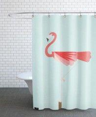 Flamingo-Duschvorhang