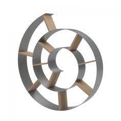 etagère murale rangement cd en forme d'escargot pour ranger vos cd ... - Meuble Range Cd Design