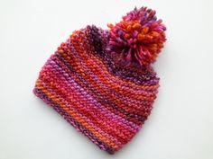 ♥ Kuschelige Strickmütze mit Bommel ♥ von Handmadeblues auf DaWanda.com
