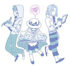 One Piece, Drake, Law, Hawkins