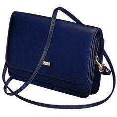 Buxton Double-Flap Mini-Bag with Total Wallet Organization Navy - via eBags.com!