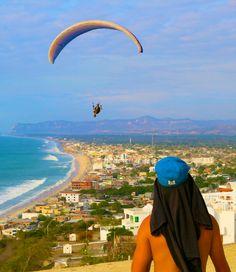Paragliding - Parapente Canoa - Ecuador.
