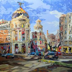 Madrid Attractions, Urban Pictures, Watercolor Sketch, Pretty Pictures, Illustrators, Art Gallery, Illustration Art, Fine Art, Spain