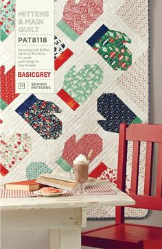 This PDF quilt pattern is called Mittens and Main. It features BasicGrey's fabric line, and Pine and was designed by me, Amy Friend. This charming quilt is suitable for not only Chri… Christmas Sewing, Christmas Fun, Christmas Quilting Projects, Christmas Placemats, Queen Size Quilt, Winter Quilts, Basic Grey, Quilting Designs, Quilting Ideas