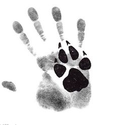 Do this with paw prints (Diva & Lilli done in black & green)