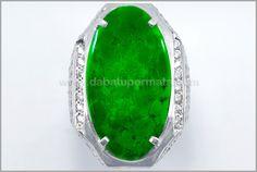 Natural Jadeite Jade Grade A Burma + HGT : JD 034 + Sertifikat