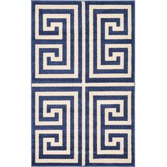 Unique Loom Athens Blue Area Rug & Reviews | Wayfair