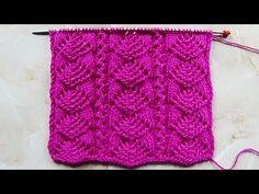 Light green cardigan sweater pattern (Hindi/Urdu) - YouTube Baby Knitting Patterns, Lace Knitting Stitches, Knitting Charts, Loom Knitting, Knitting Needles, Stitch Patterns, Knitting Videos, Bead Weaving, Crochet