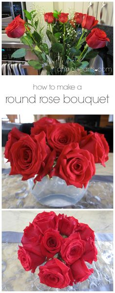 How To Arrange Long Stemmed Roses In A Round Vase Rose Flower And