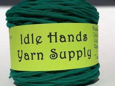 Green Tarn Recycled T Shirt Yarn  7475 by IdleHandsYarnSupply, $7.48