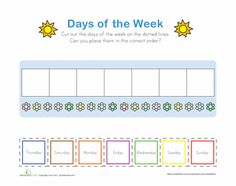 1000 images about days of the week on pinterest worksheets learning and calendar. Black Bedroom Furniture Sets. Home Design Ideas