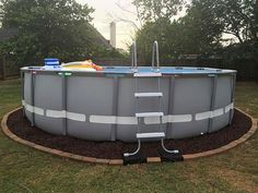 Diy Above Ground Pool Landscaping landscaping around above ground pool. | backyard | pinterest