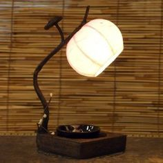 Mulberry Rice Paper Ball Handmade Flower Bud Design Art Shade Pink Round Globe Lantern Brown Asian Oriental Decorative Bedside Accent Home Decor Bedroom Mini Table Desk Lamp: Amazon.co.uk: Kitchen & Home