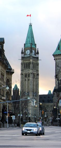Ottawa, ON View of Peace Tower from Elgin Street