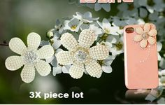 3 piece lot Large alloy and pearls flower diy bling phone deco etc Flower Diy, Diy Flowers, Pearl Flower, 3 Piece, Craft Supplies, Bling, Pearls, Deco, Phone