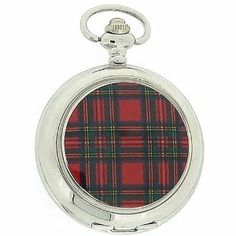 Pwl Tartan White Dial Unisex Dress Pocket Watch With 12 Chain Boxx138 BOXX. $25.95