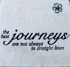 """Inspirational """"Best Journeys"""" Marble Coaster by CircleOakTreasures on Etsy"""