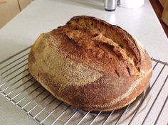 Following a modified Chad Robertson approach, this was my first ever 100% sourdough from Steve Richardson