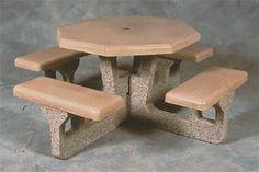 Precast Octagon Picnic Table   Concrete   Picnic Tables   Belson ...