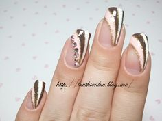 french nail art click through for tutorial (in korean blog)