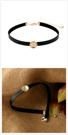 Free Shipping Gold Gemstone Wide Choker Necklace For Women