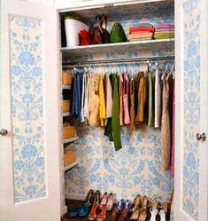 Posts about history of wallpaper written by Concept Interior Design Boys Room Decor, Spare Bedroom, Baby Room Closet, Home Decor, Baby Boy Room Decor, Room Closet, Woman Bedroom, Wallpaper Ceiling, Small Closet Organization