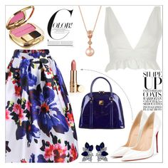"""Ta Main"" by anilia ❤ liked on Polyvore featuring Christian Louboutin, MCM, Dolce&Gabbana, River Island, Fantasia and LE VIAN"