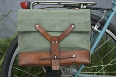 Swiss Army Bicycle Bike Pannier Bag (Single). $72.00, via Etsy. Holy sexy bike bag.