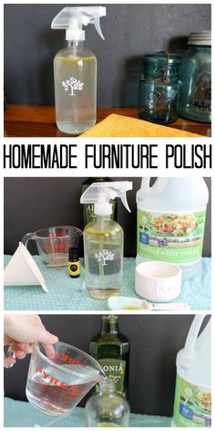 How to make homemade furniture polish. An all natural dusting spray to use around your home!